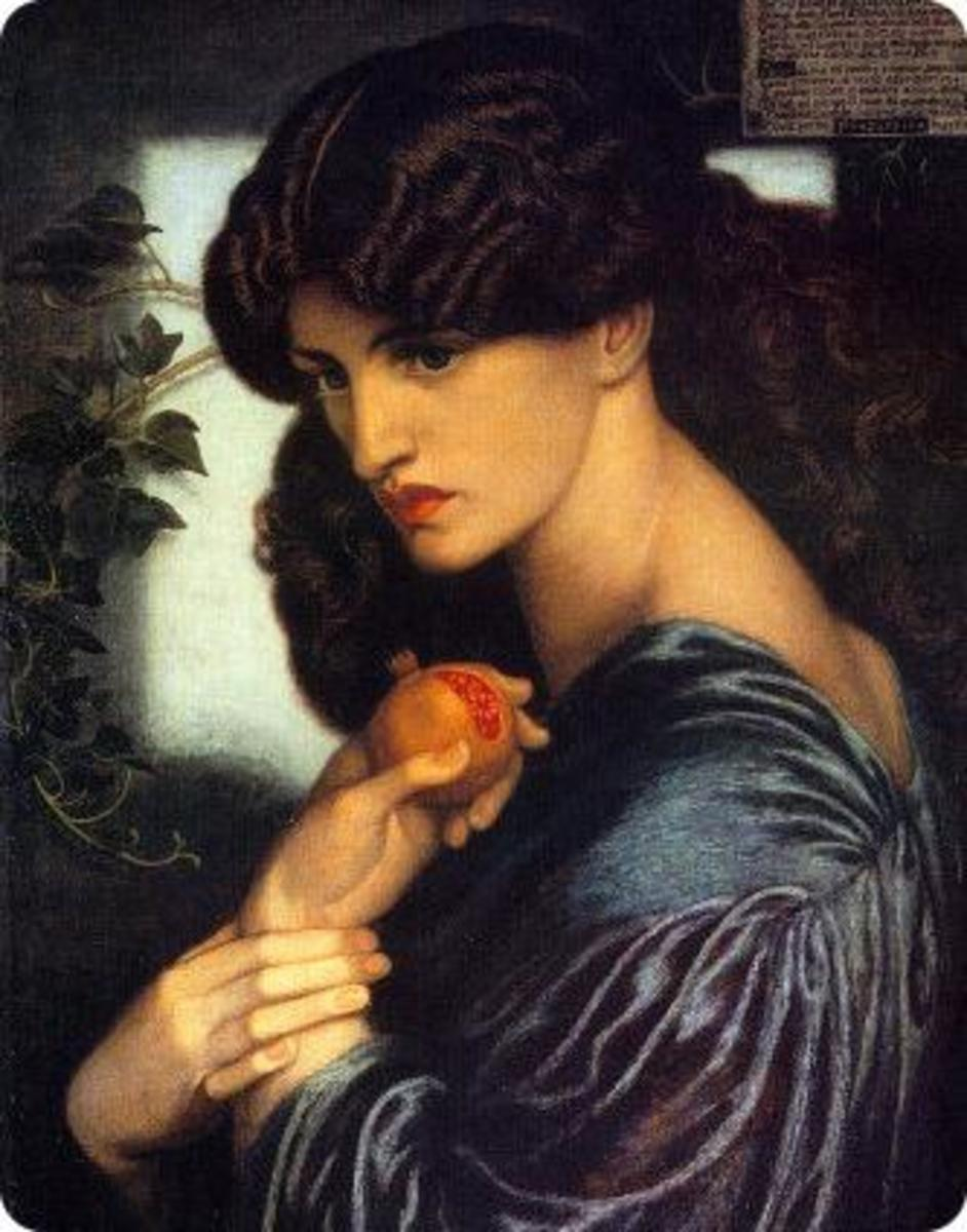 Proserpine by Dante Gabriel Rossetti, 1877. Manchester City Art Gallery. Courtesy Wiki Commons