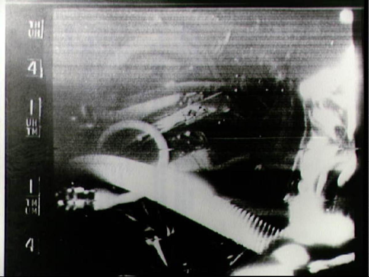 TV image from Faith 7. Photo courtesy of NASA.