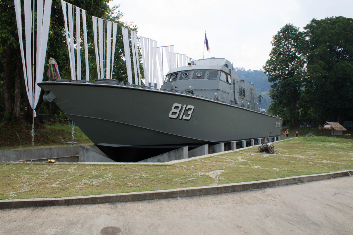 The Thai Navy boat 813 in its final resting place after being flung 2km inland by the Indian Ocean tsunami in 2004