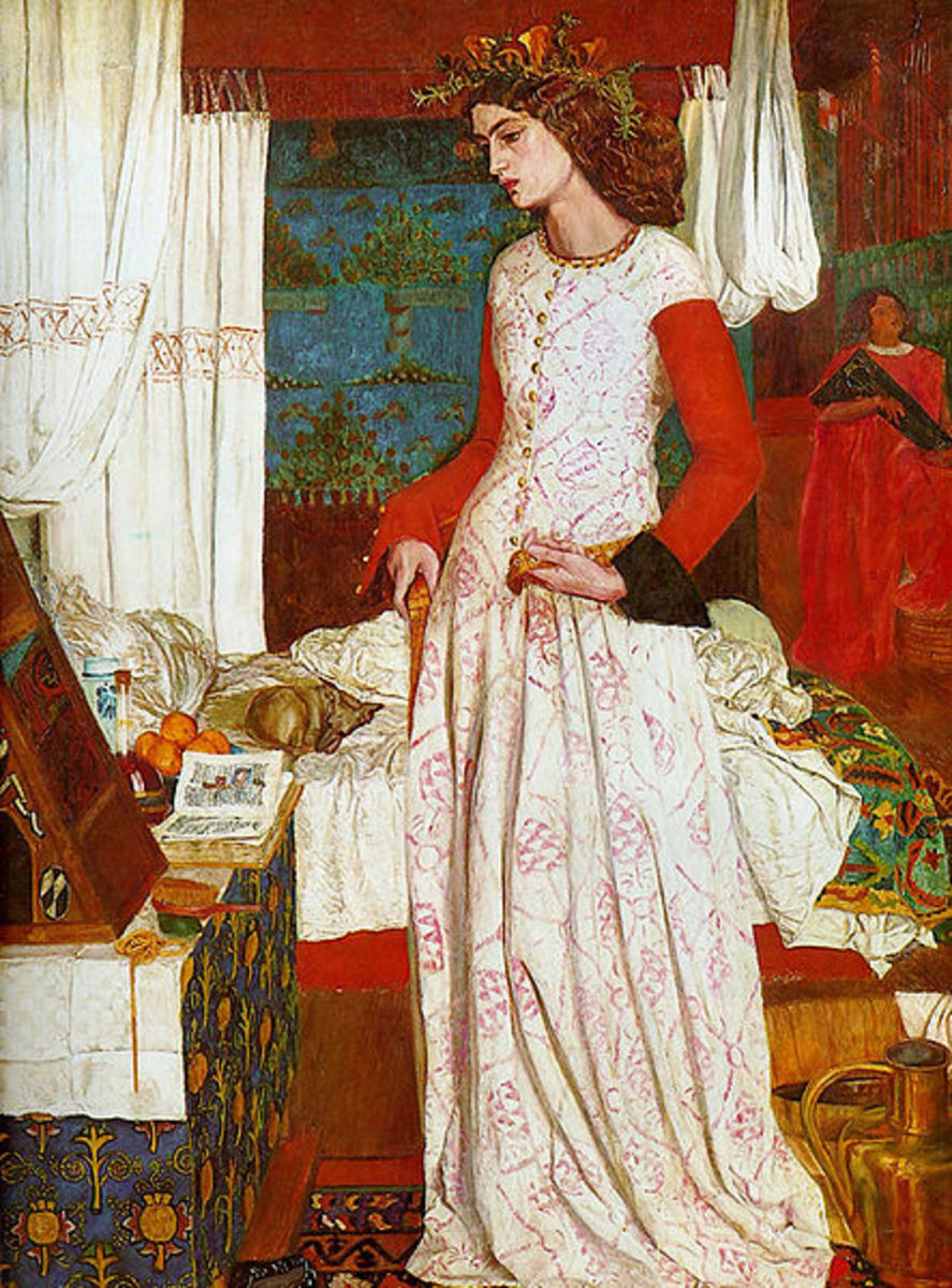 Queen Guinevere by William Morris, 1858. Tate Gallery London, UK. Image courtesy Wiki Commons