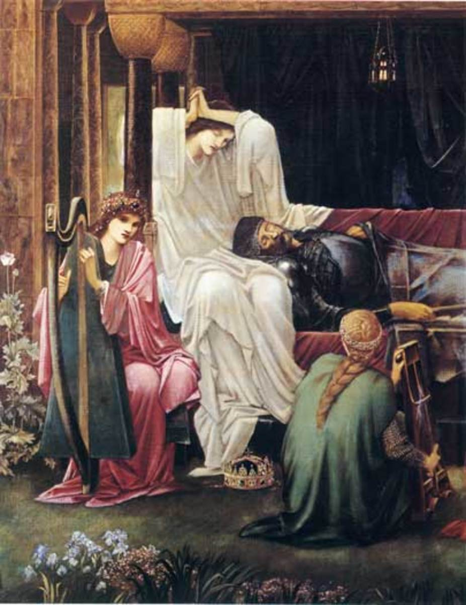 Detail from 'The Last Sleep of Arthur in Avalon' by Sir Edward Coley Burne Jones, 1881-98, Museo de Arte, Ponce, Puerto Rico. Courtesy Wiki Commons