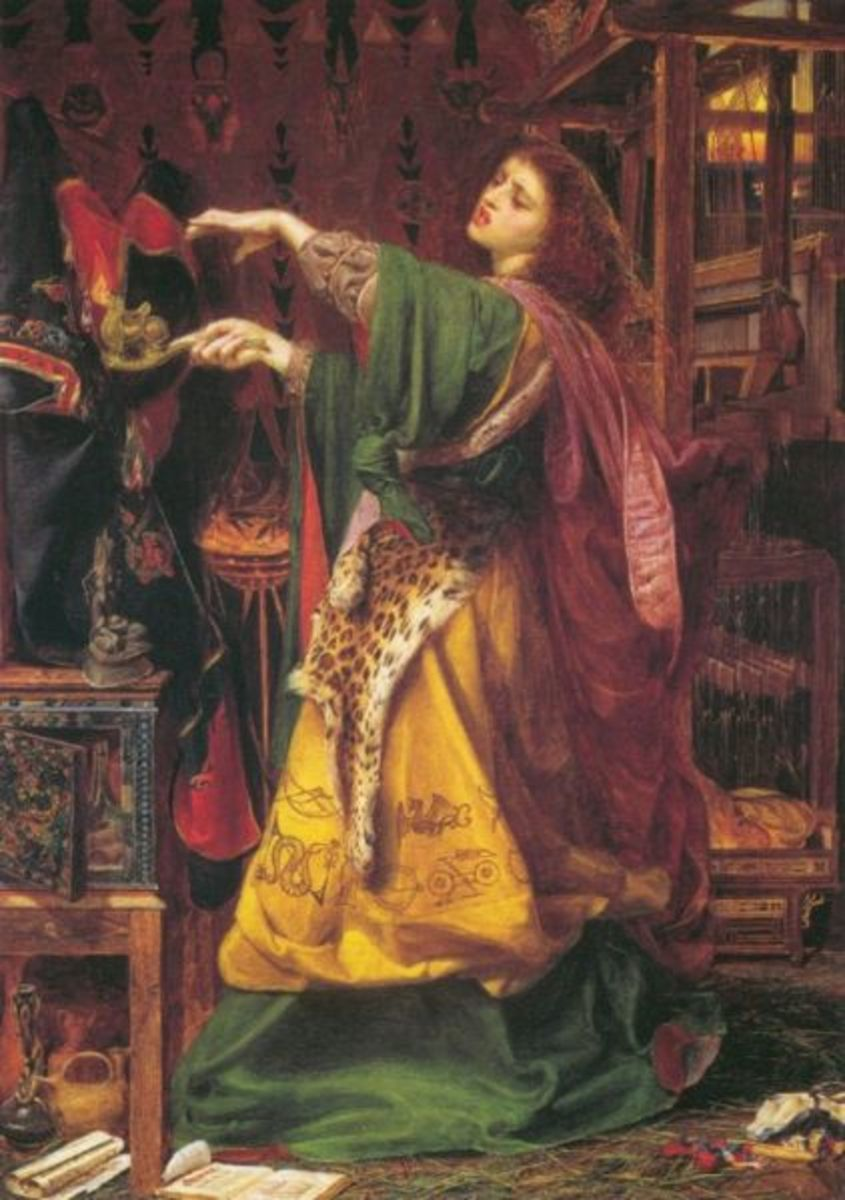 Morgan le Fay by Frederick Augustus Sandys, 1864. Property of Birmingham Museums and Art Gallery. Image courtesy Wiki Commons