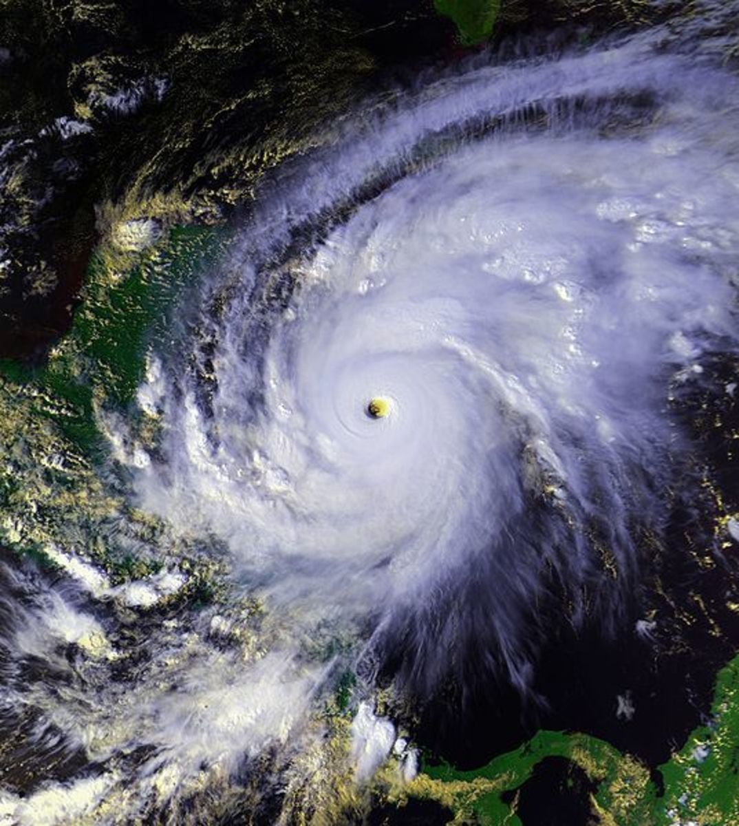 Hurricane Mitch as a Category 5 hurricane.