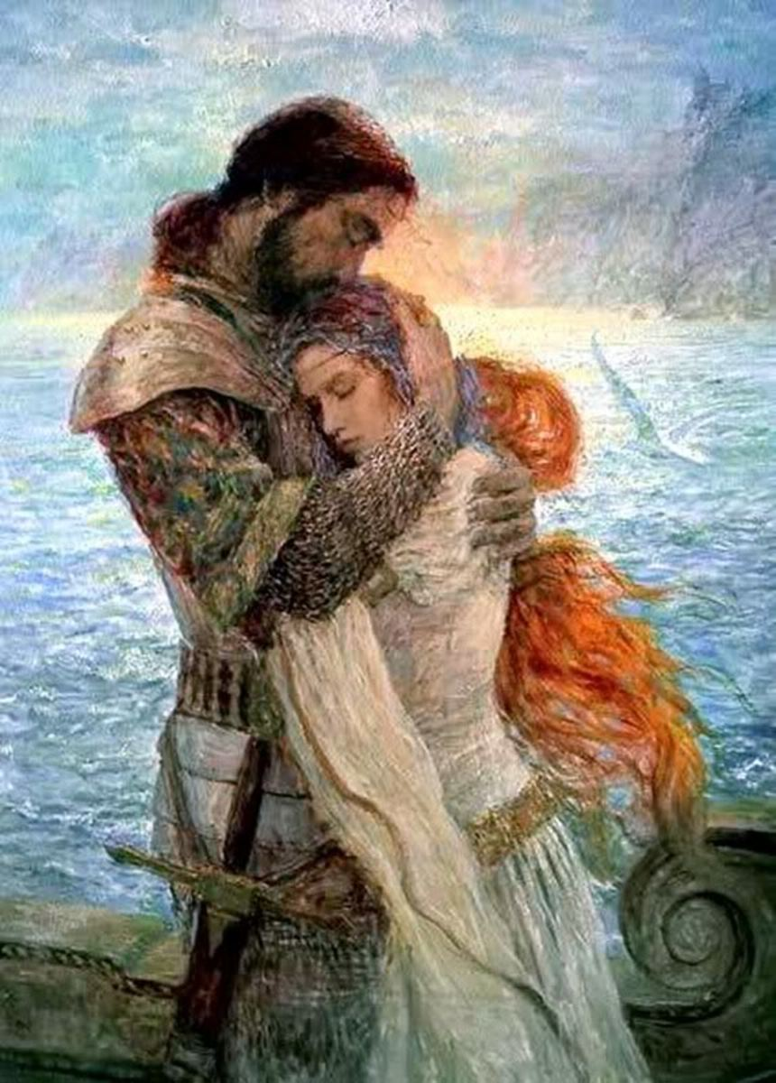 TRISTAN AND ISOLDE (PAINTING BY MARC FISHMAN)