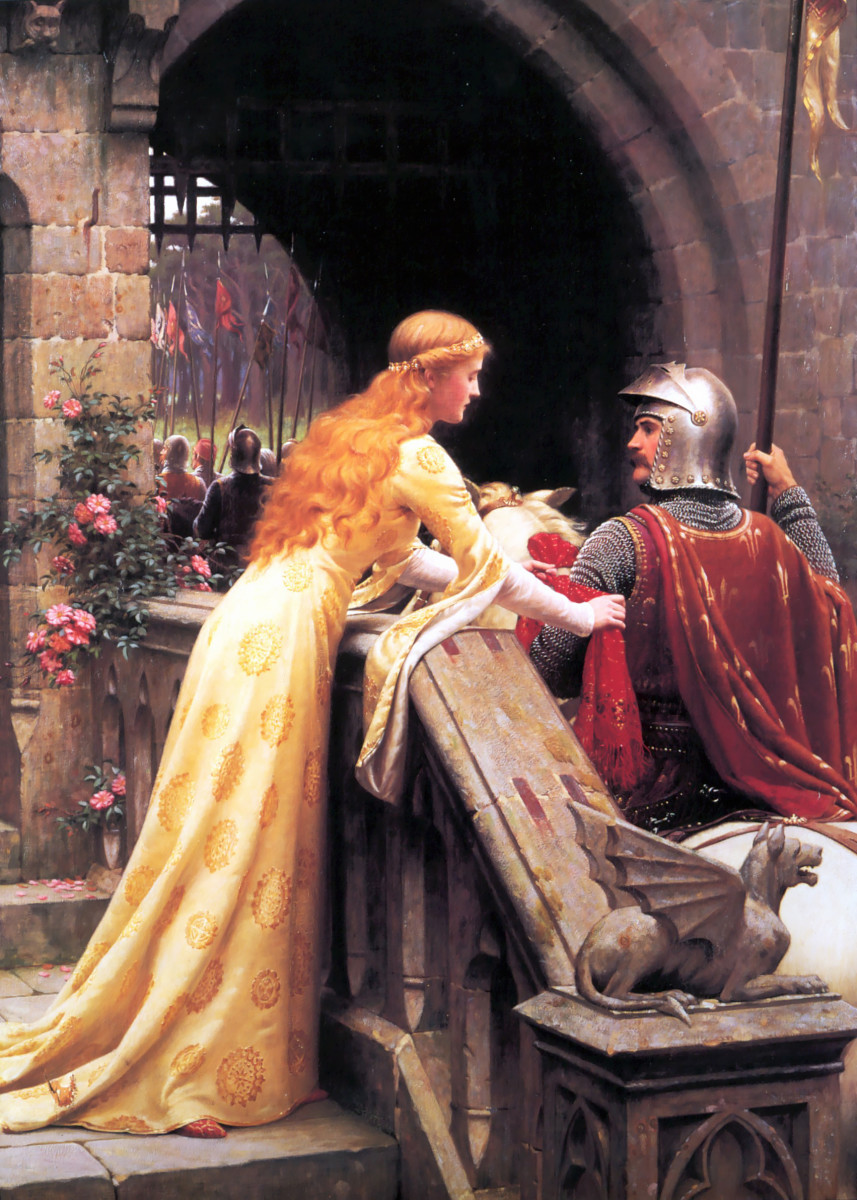A LADY SAYS GOODBYE TO HER KNIGHT IN SHINING ARMOR