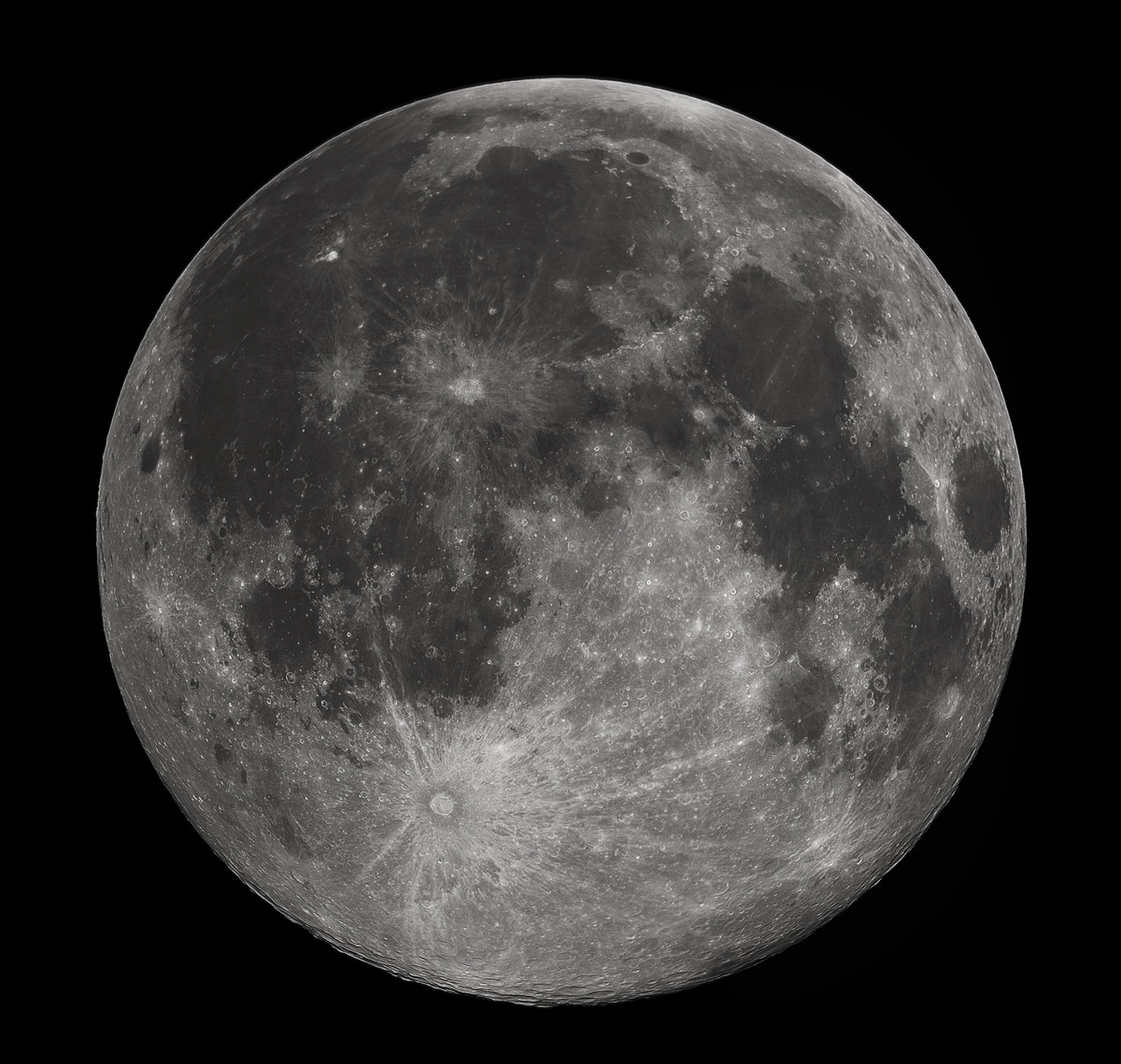 A Full Moon Up Close