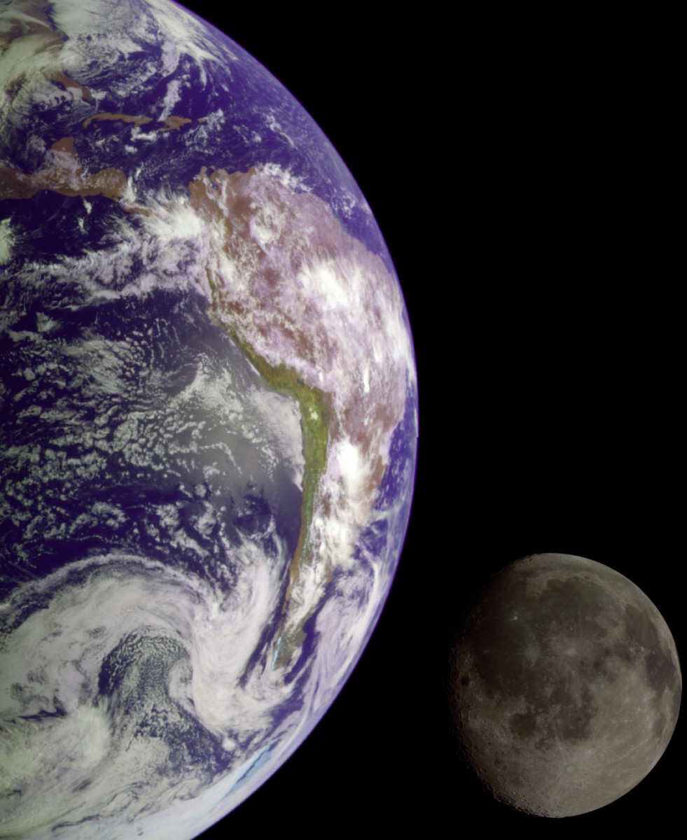 Yes, the Earth has a gravitational pull that keeps the moon within the pull of the Earth, which is why it circles the moon, not the other way around.