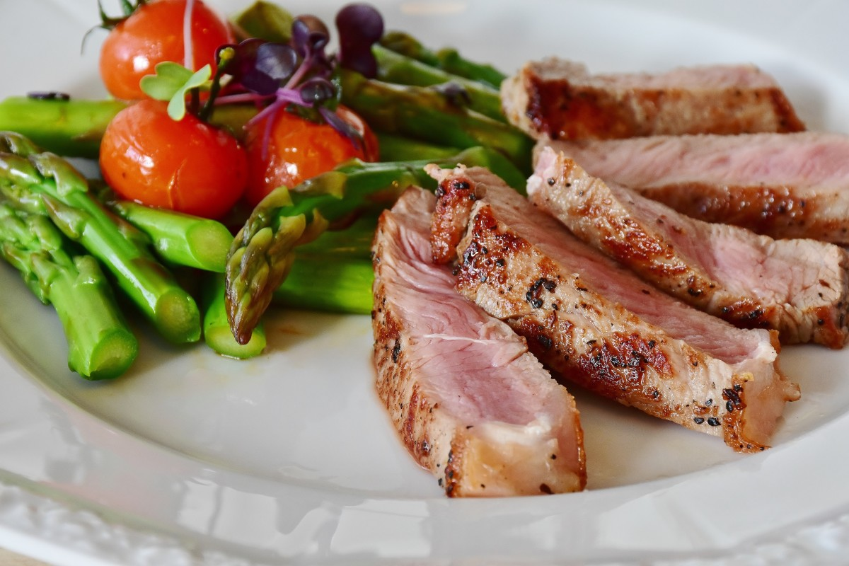 Meat is rich in protein. Digestive enzymes are needed to convert the protein molecules to amino acid molecules.