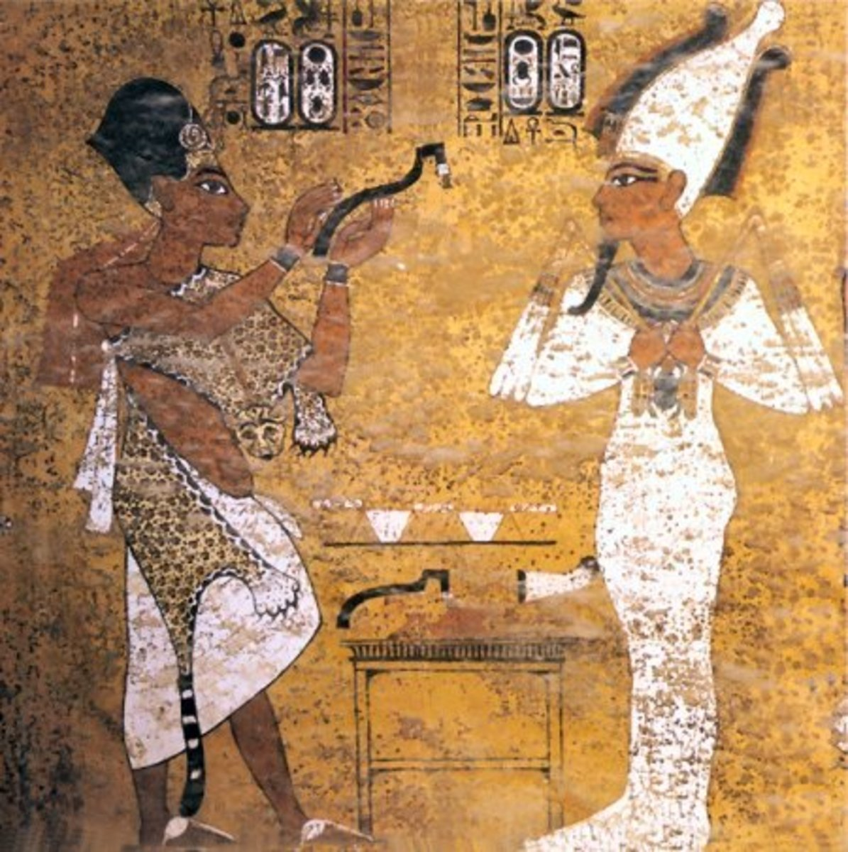 Opening of the Mouth - Painting from KV62 Tomb of Tutankhamun