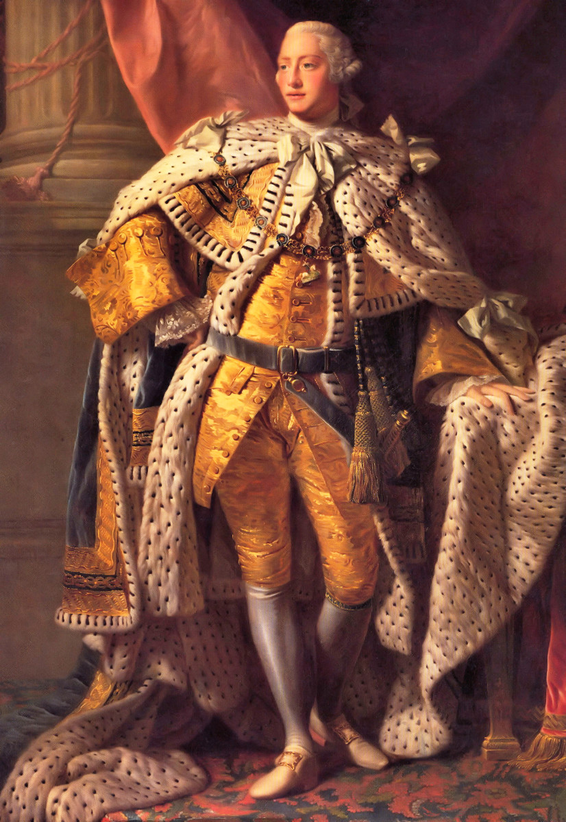"Prior to declaring Independence, the American colonists regarded George III as a ""Patriot King."""