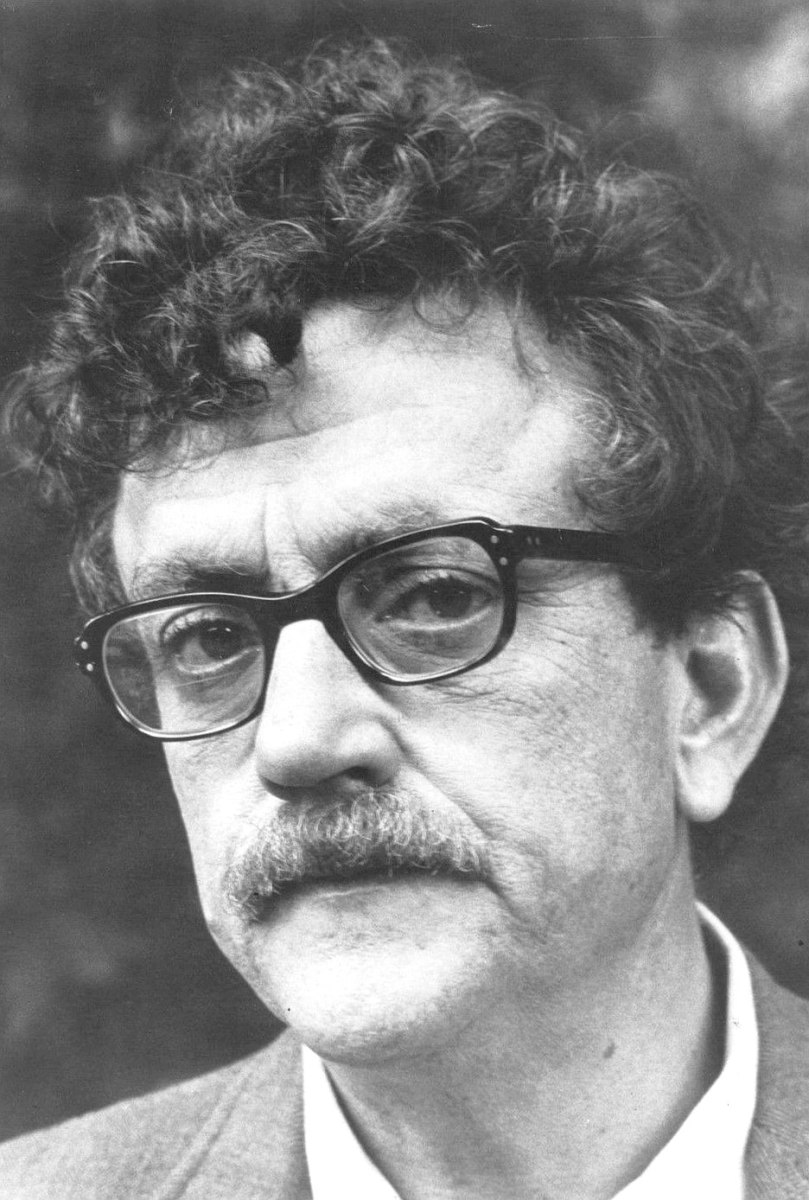 Kurt Vonnegut, Jr., November 11, 1922  April 11, 2007, was one of the most greatest 20th century American writers. He wrote such works as Slaughterhouse-Five (1969), Cat's Cradle (1963), and Breakfast of Champions (1973).