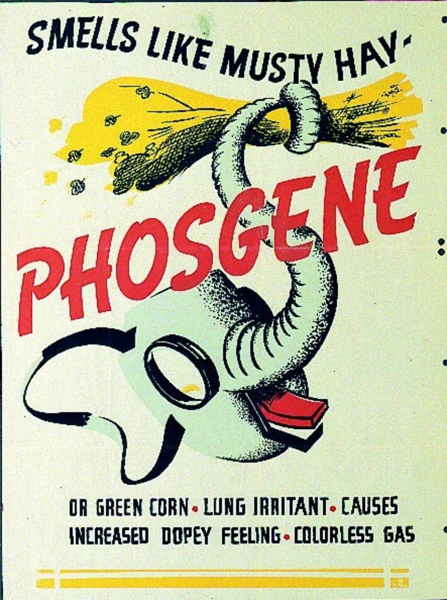 A phosgene warning poster for soldiers