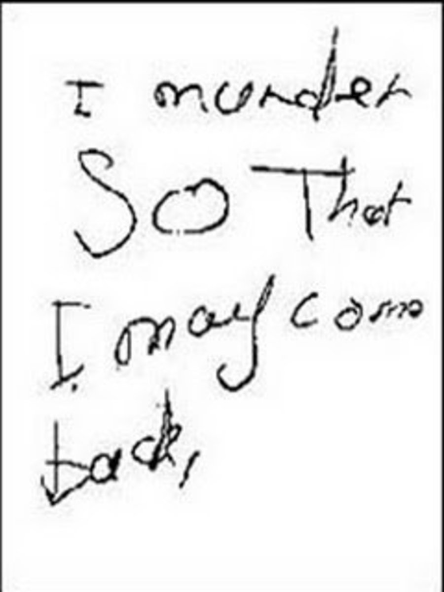One of the notes left behind by Mary & Norma in the vandalized nursery.