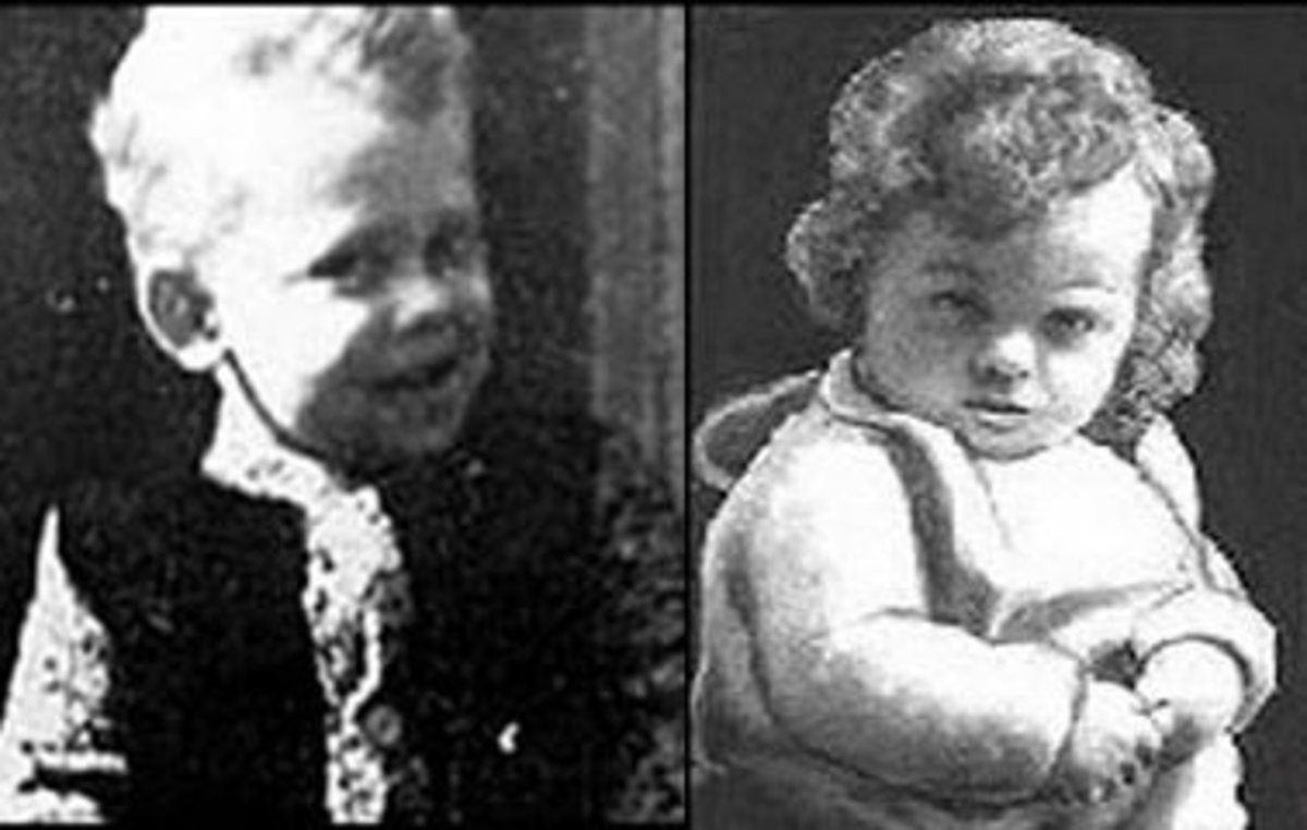 Left: 4-year-old Martin Brown. Right: 3-year-old Brian Howe.