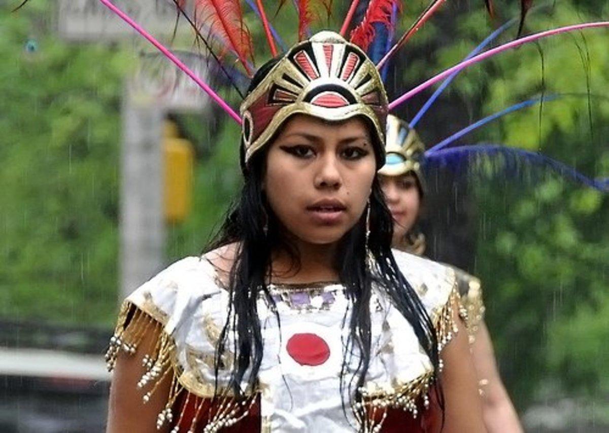 Aztec Slave Girl Dressed Up As Xilonen