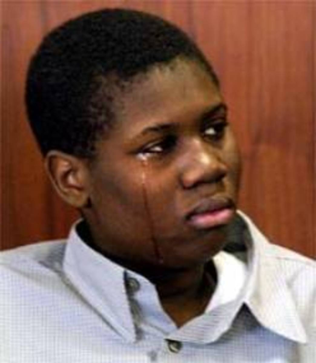 14-year-old Lionel Tate during the trial.
