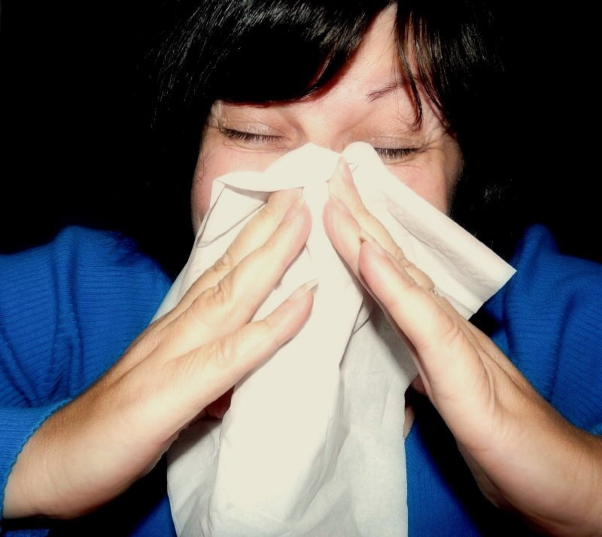 We produce extra mucus when we have a cold or the flu.