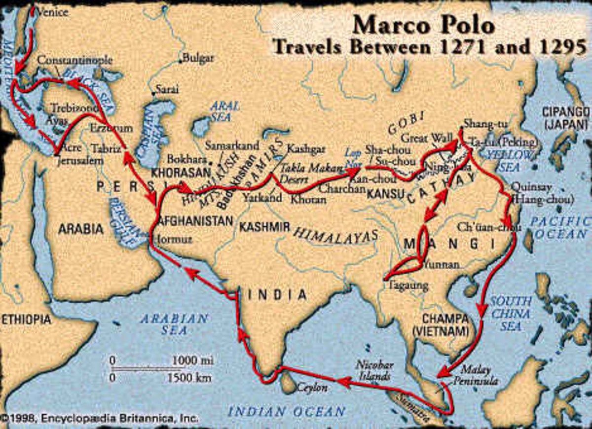 Marco Polo's Travel Route