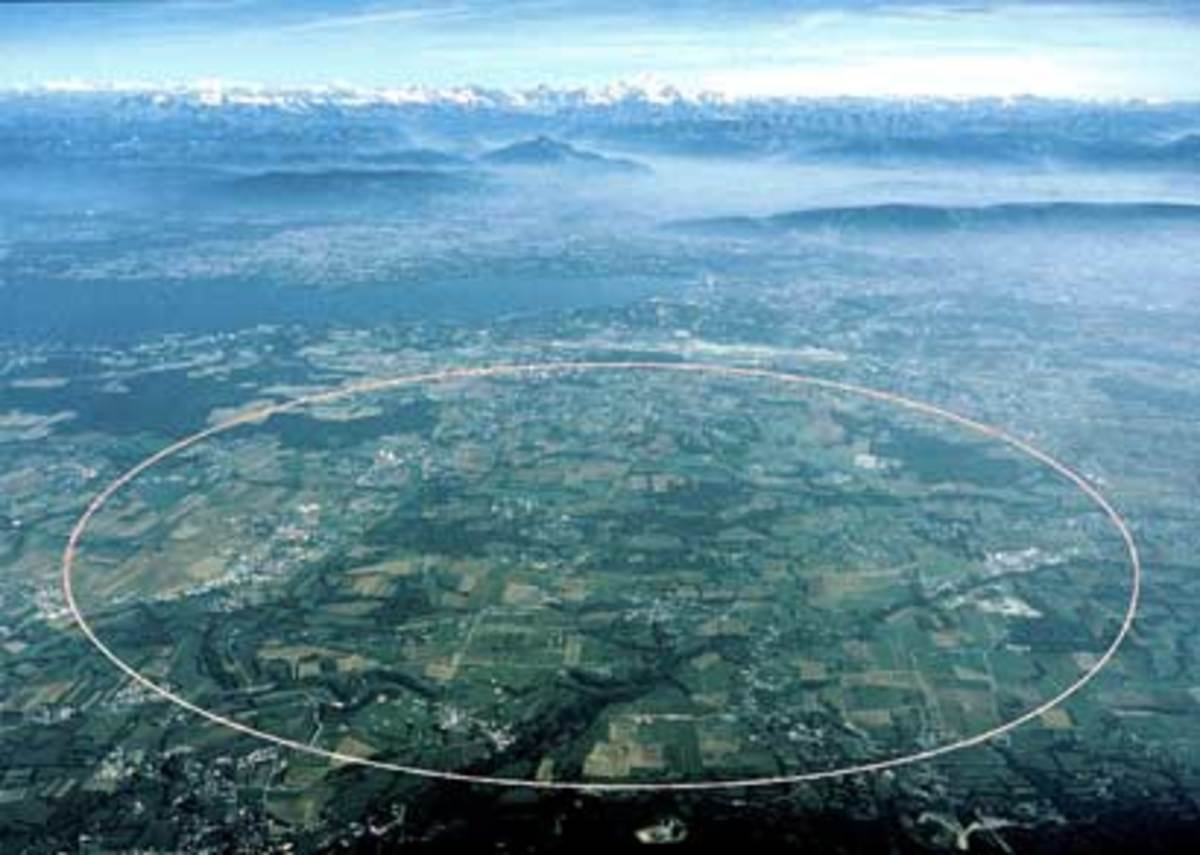16.8-mile long particle accelerator at CERN.