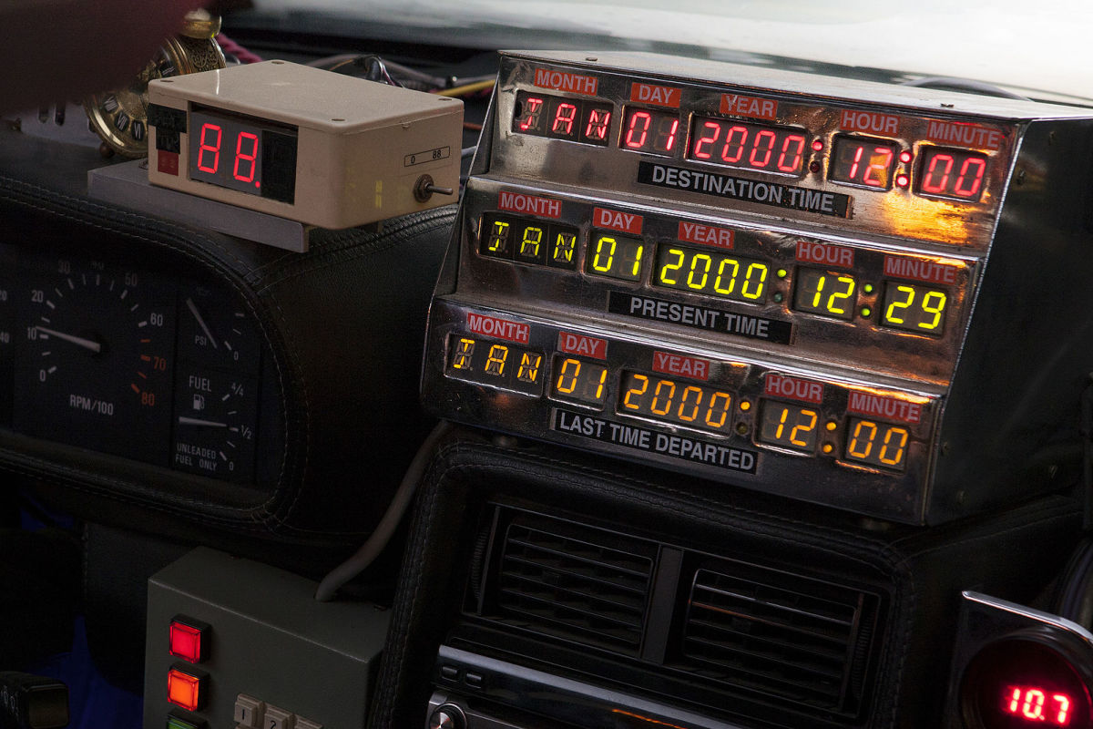 "In the popular sci-fi movie, ""Back to the Future"", the DeLorean is a time-traveling car."