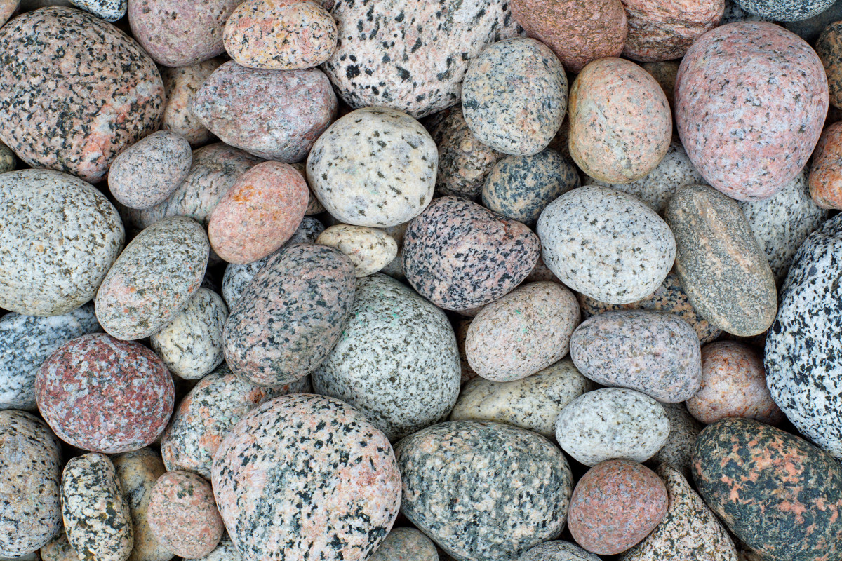 Granite (Bird Egss) collected from Pier Cove Beach Lake Michigan
