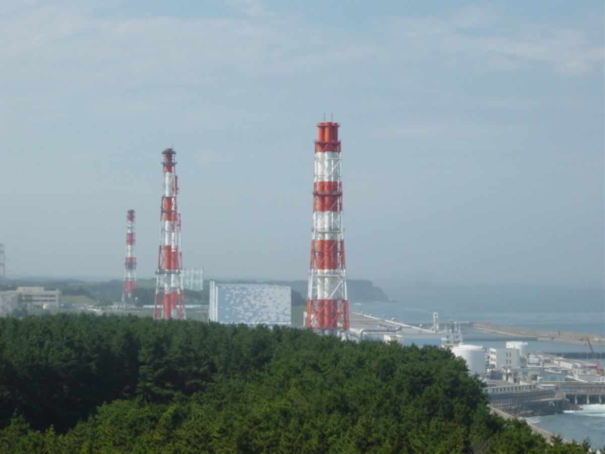 The Fukushima Nuclear Power Plant Chimneys