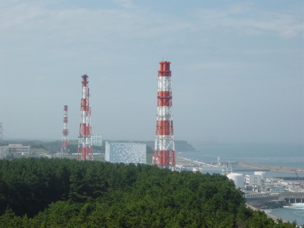 The Fukushima Nuclear Power Plant Chimneys