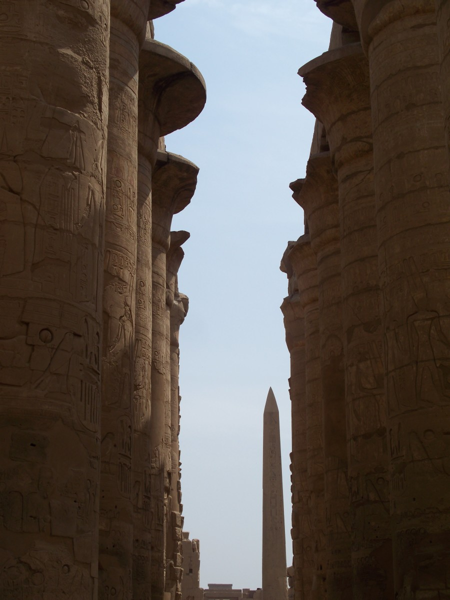 Pillars of the Temple of Luxor, Egypt