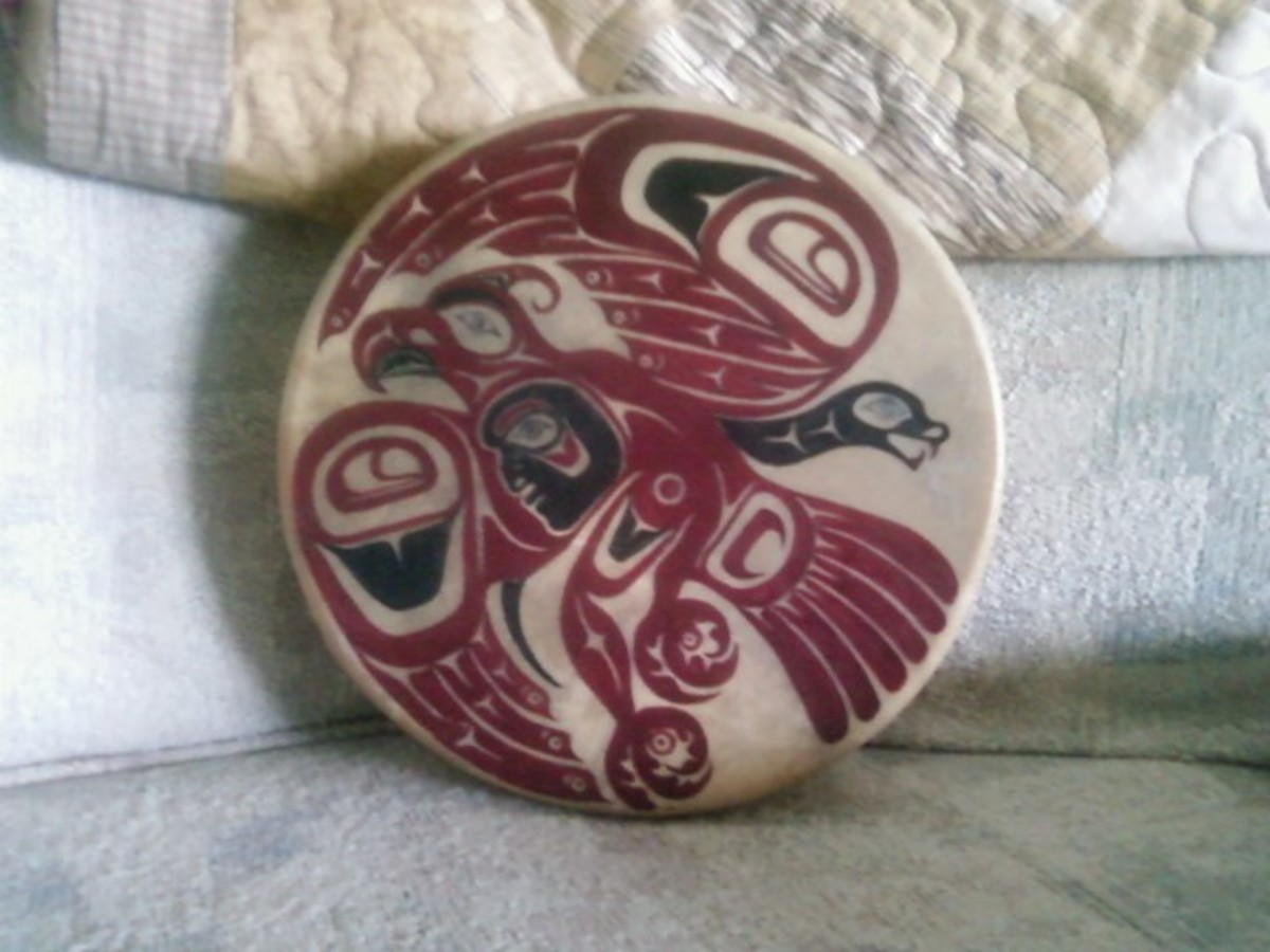 Thinderbird painted on my drum by my guy.