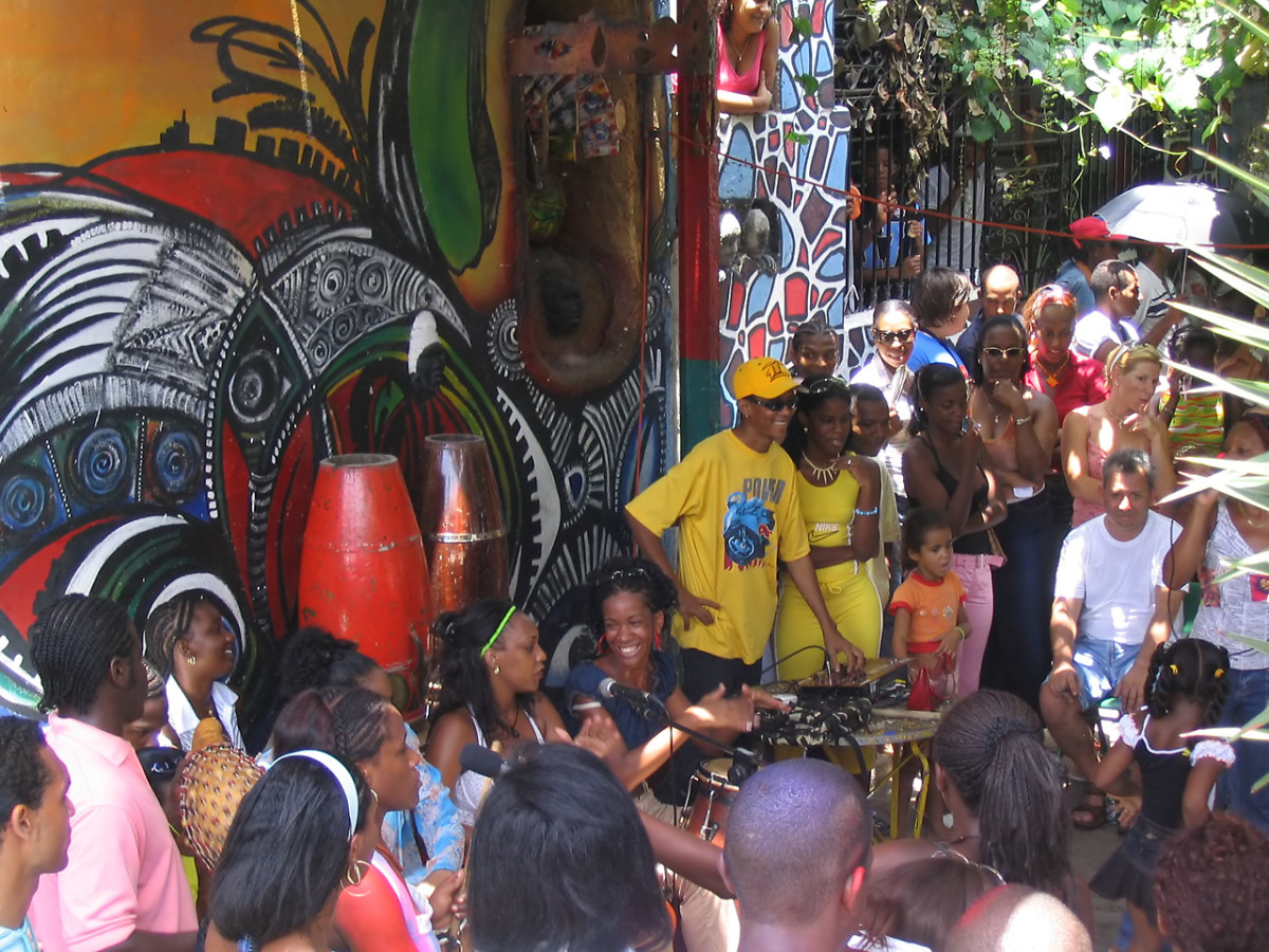 Afro-Latin Americans have greatly influenced the musical culture of the region. Havana, Cuba.