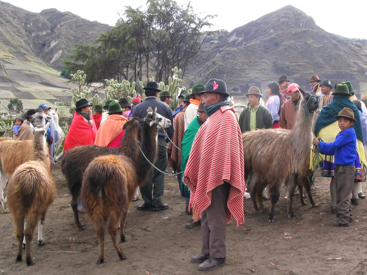 Markets are an important part of the indigenous way of life in the Andes.