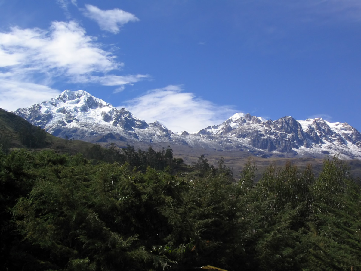 The Snow-capped Andes are a world away from the Amazon basin.