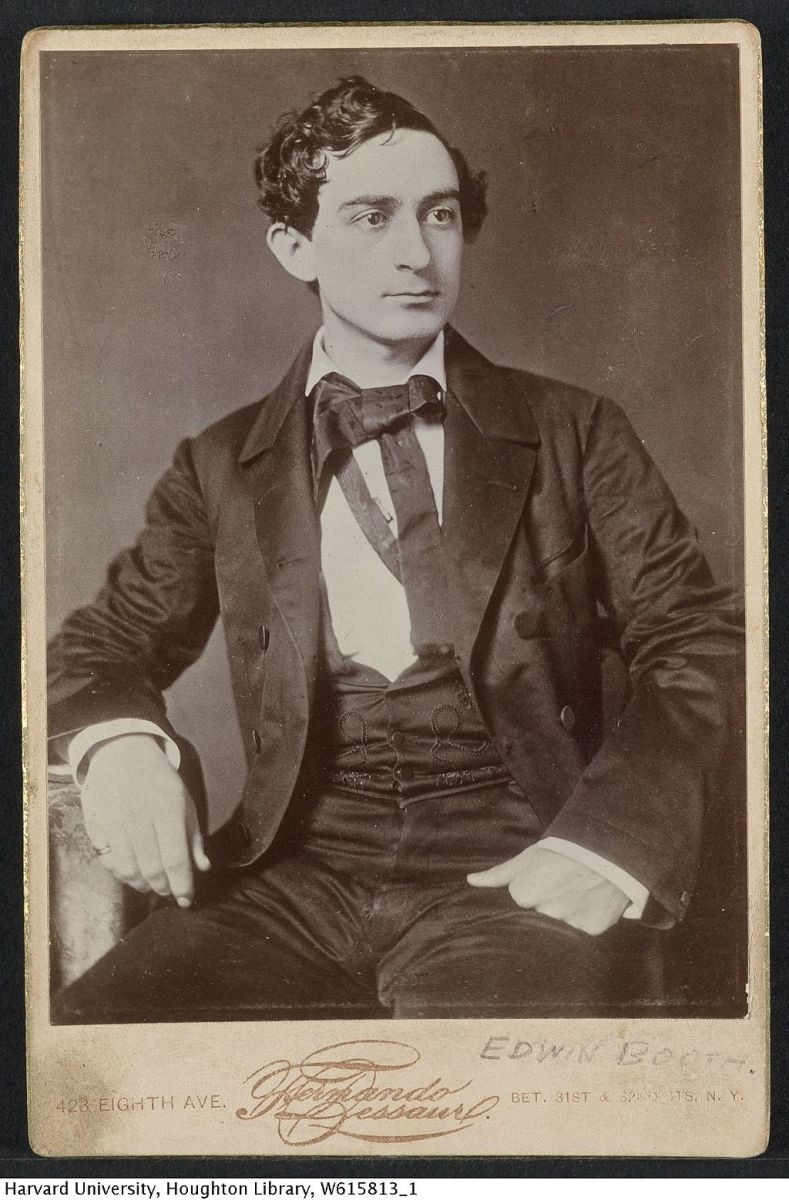 Edwin Booth, c. 1856, photographed by Fernando Dessaur.