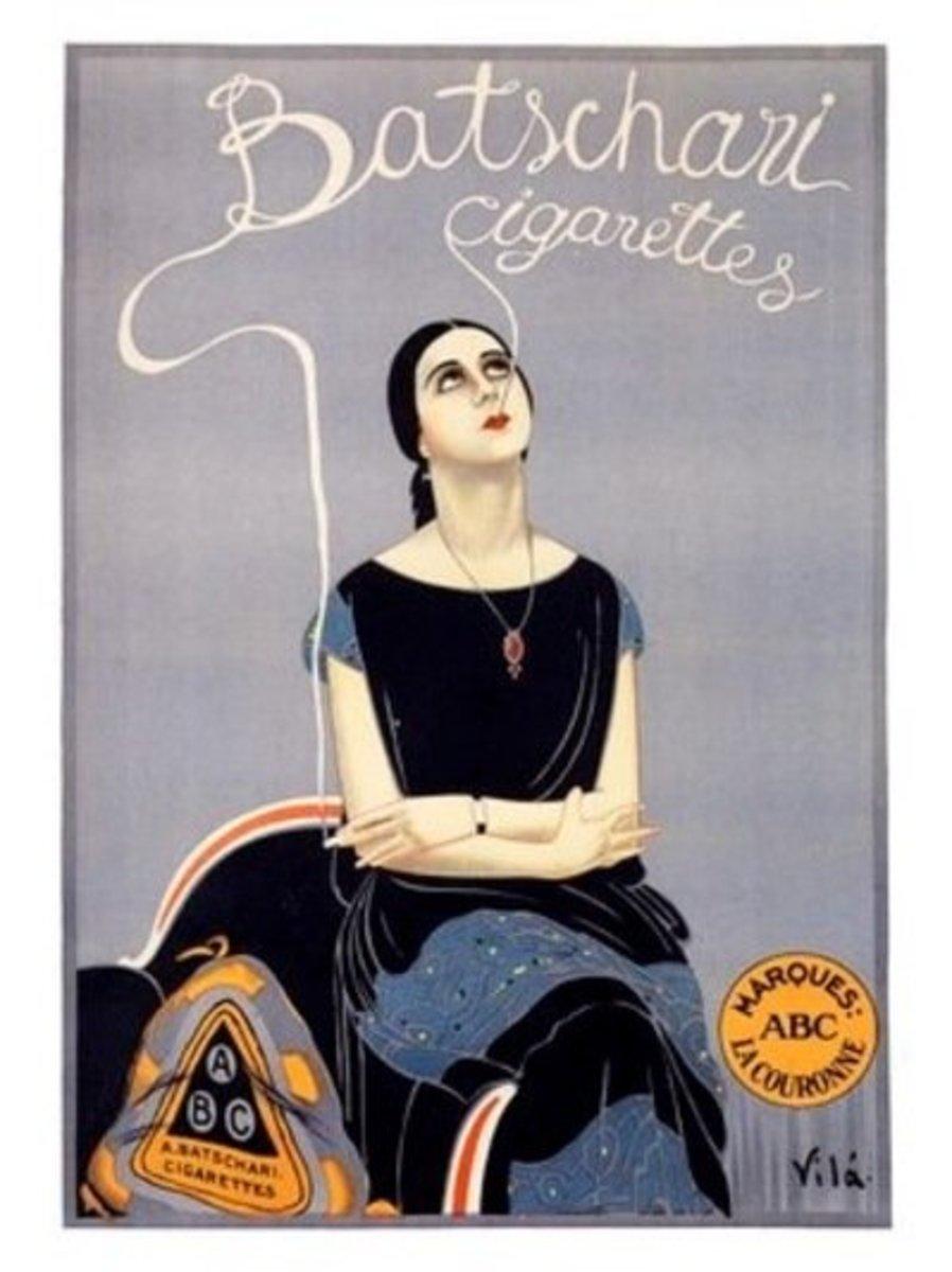 Cool, stylish...and a smoker. The modern woman.