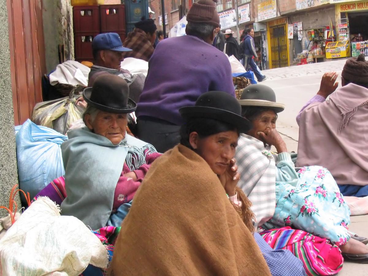 Indigenous Aymara women, Bolivia