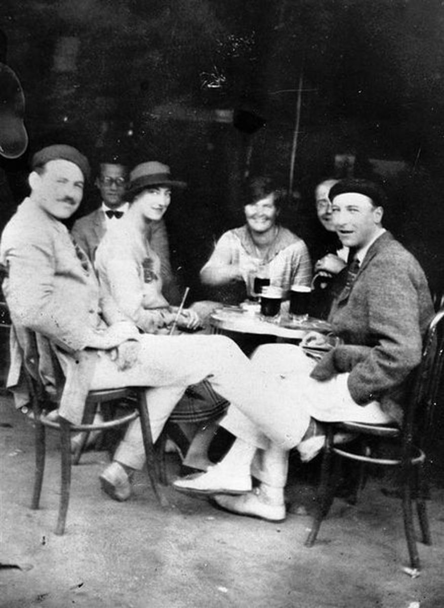 Hemingway, Hadley and friends