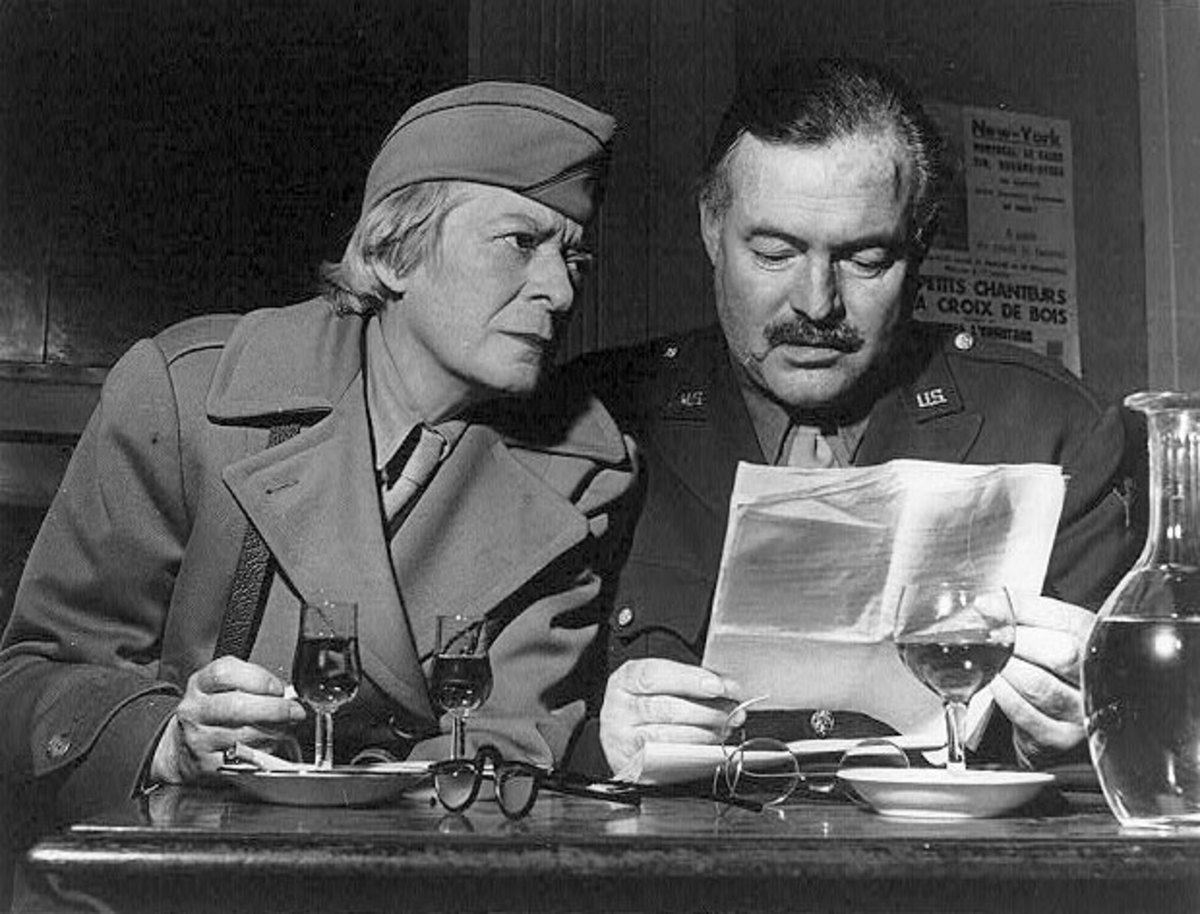 Janet Flanner and Ernest Hemingway