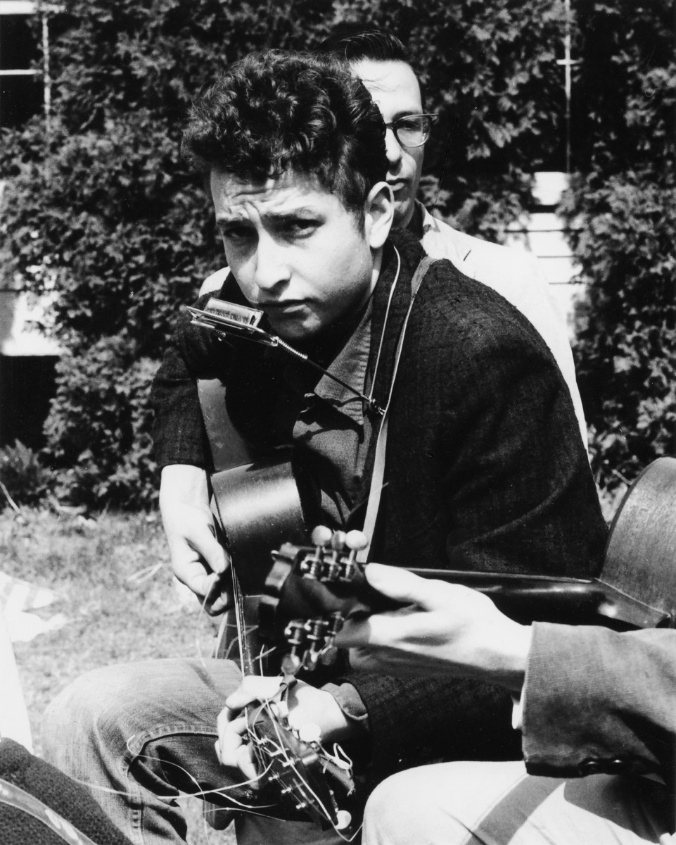 A young Bob Dylan.