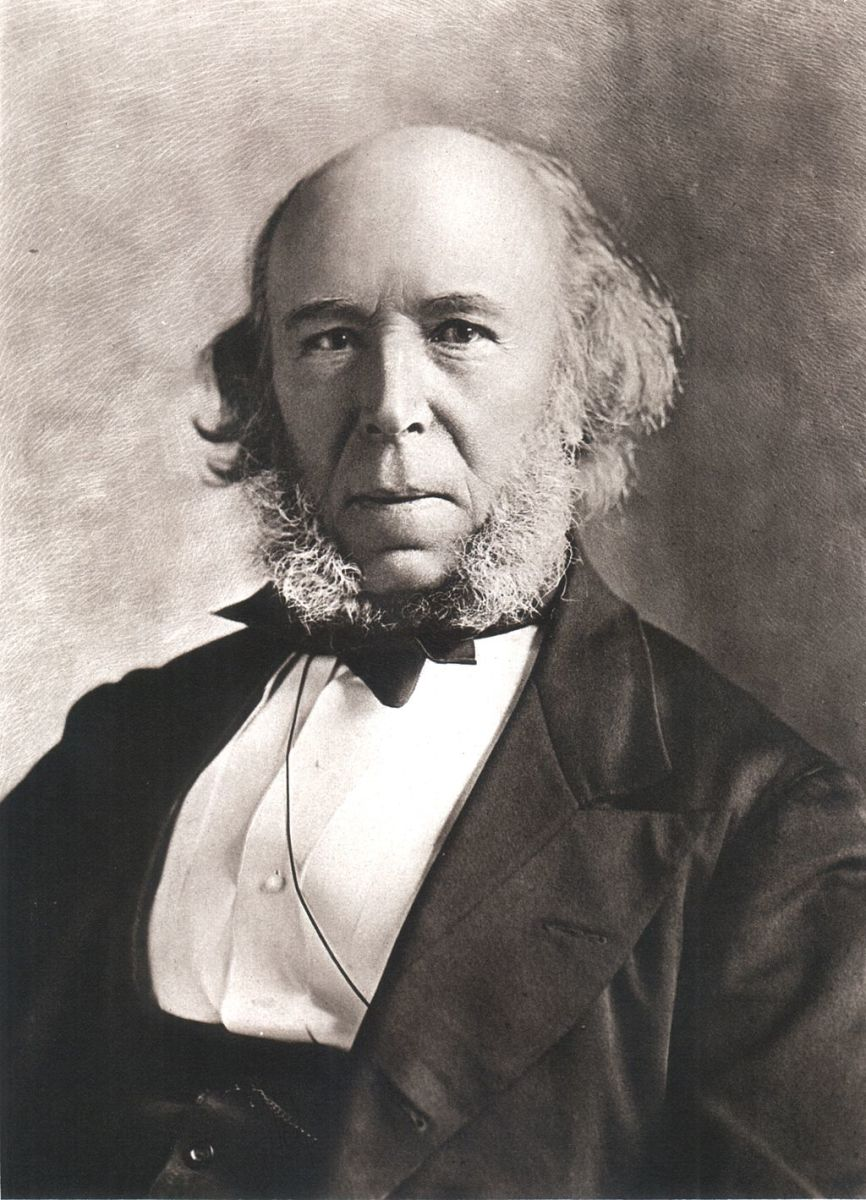 Portrait of Herbert Spencer.
