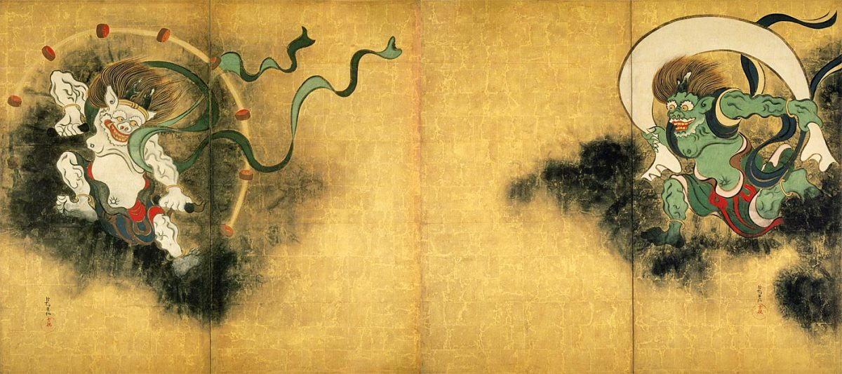 """Wind God and Thunder God"" by Ogata Korin"