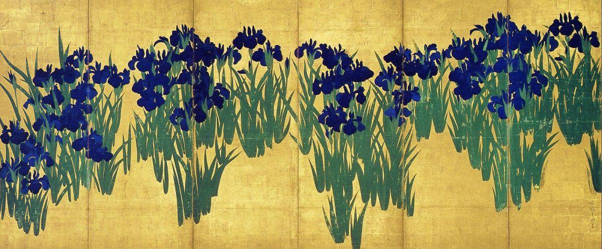 """Iris"" by Ogata Korin"