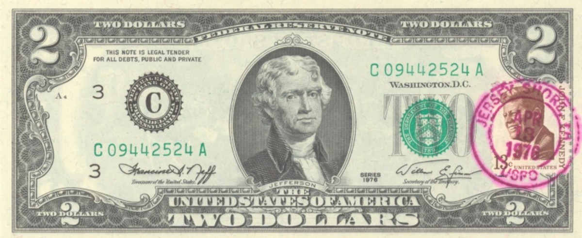 He was on the $2 bill.
