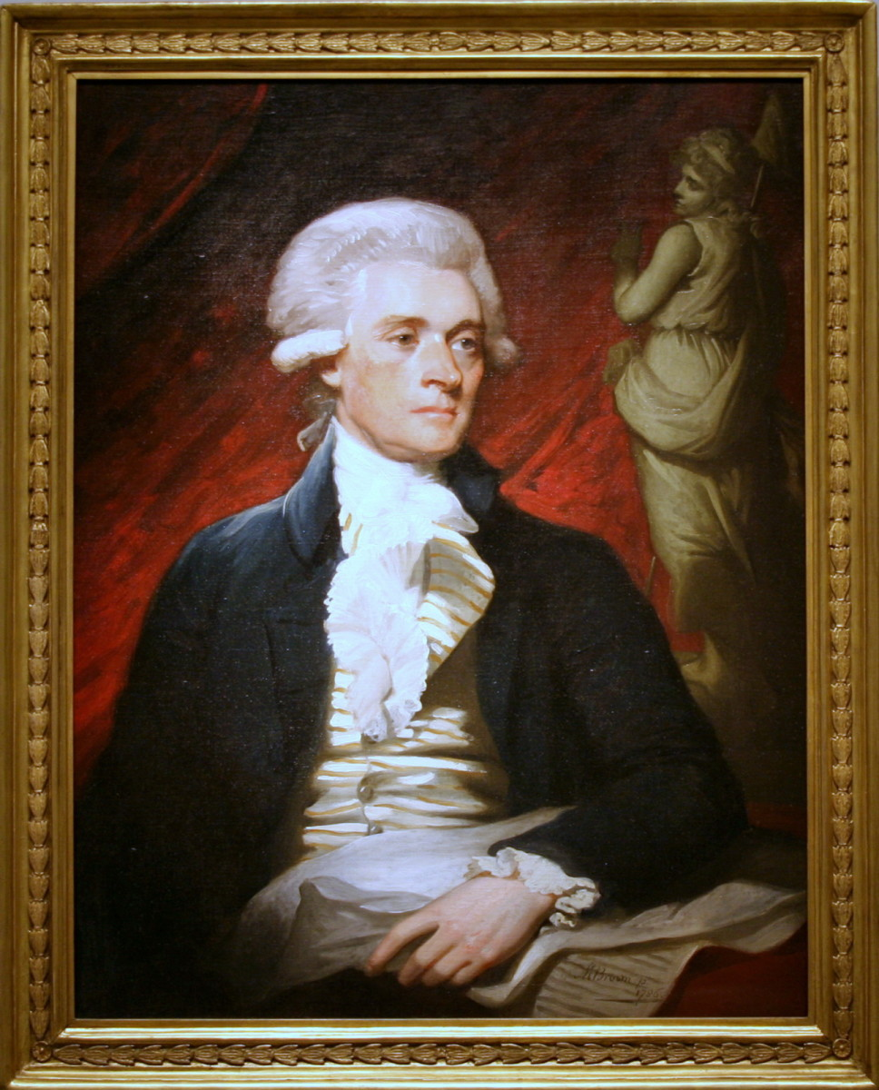 This is a young painting of Thomas Jefferson.