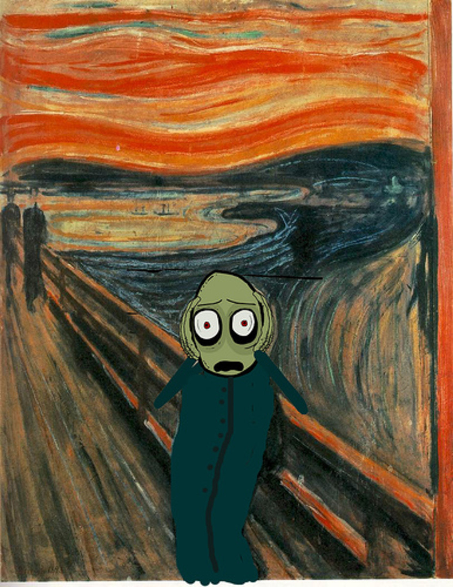 Salad fingers version... for more Google 'The Scream'!