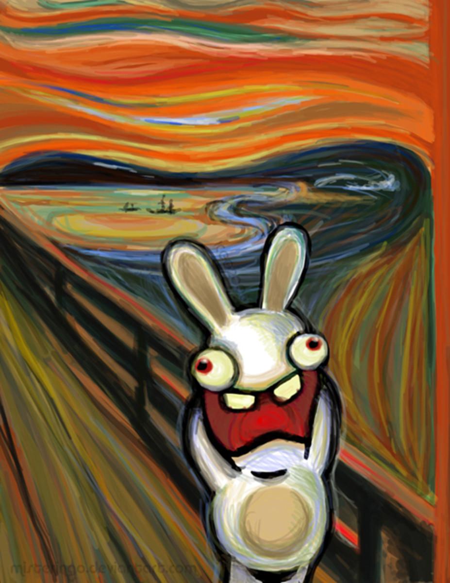 Raving Rabbids Scream pastiche