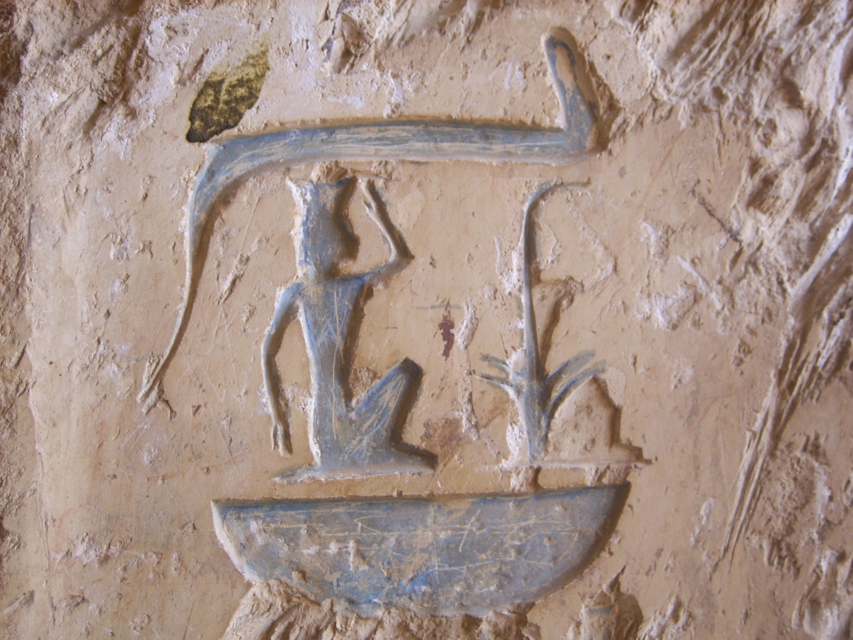 Detail from the walls of the tomb of Senmut in the Theban Necropolis