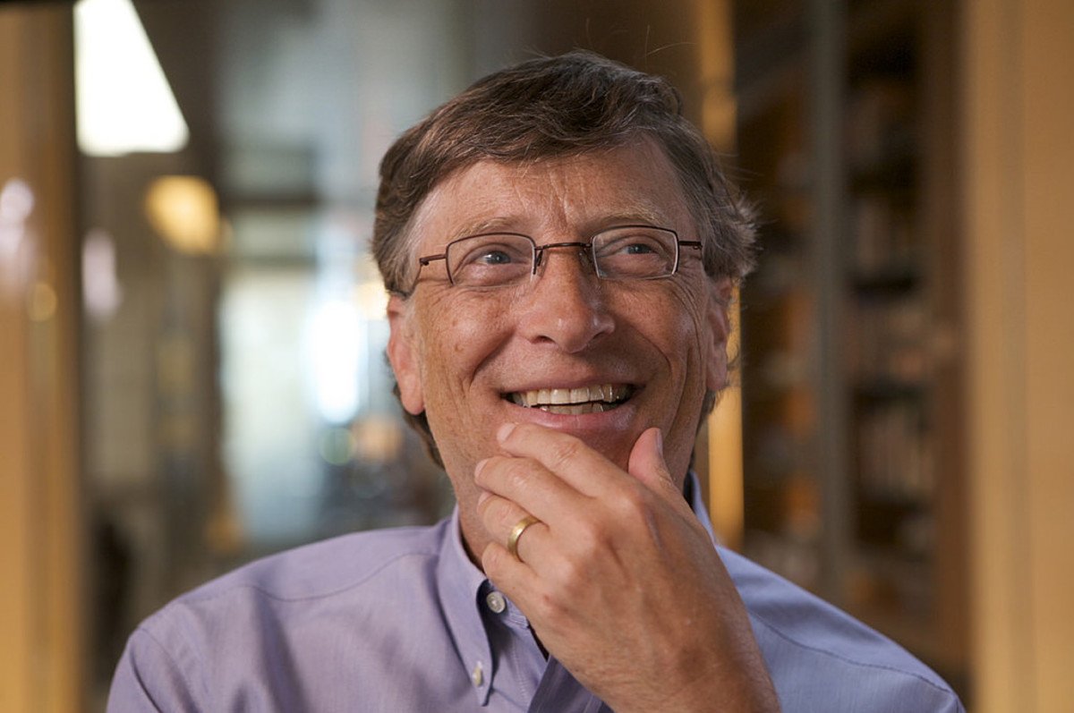 Bill Gates has the personality traits of a square.