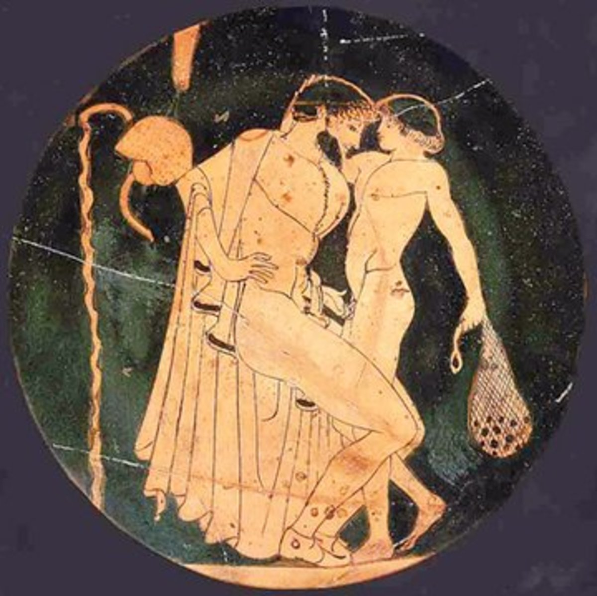 Zeus having fun with yet another mortal, Ganymede