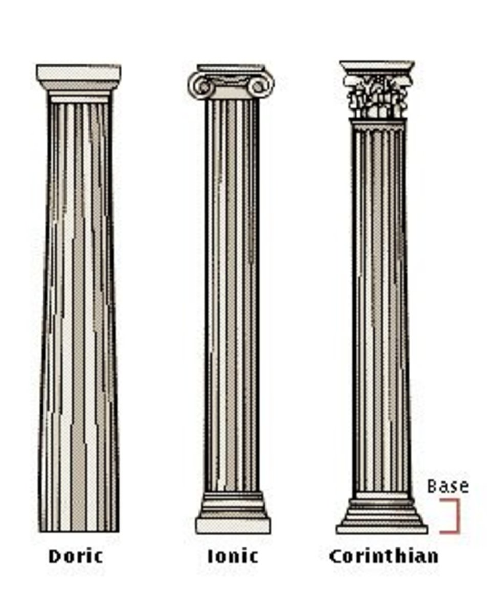 Comparison of the 3 Greek columns