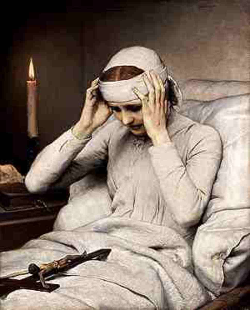 Anne Katherina Emmerich,an 18th Century seer and later a Saint. Taken to a convent when she suffered Stigmata. This picture captures the essense of the earlier Anchoresses.